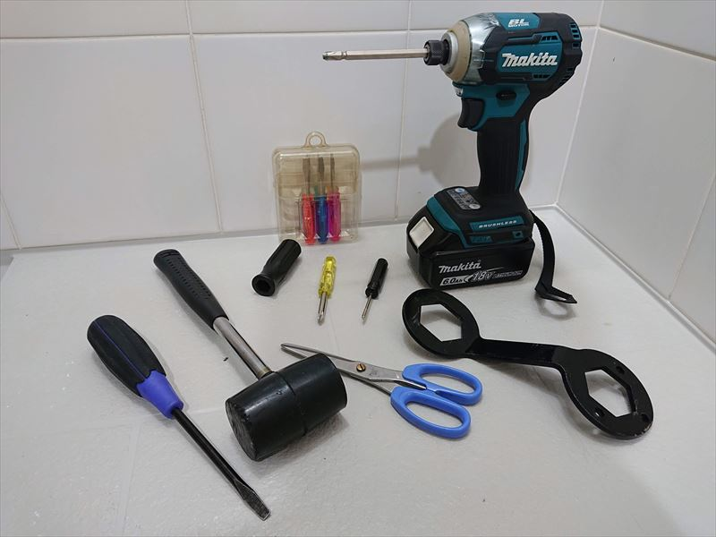 洗濯機の洗濯槽を安い工具で分解 マクスゼンmaxzen 38mmナット 工具